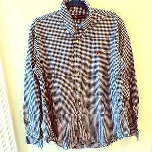 Ralph Lauren Navy checked dress shirt